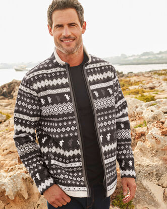 Guinness Fairisle Fleece Jacket