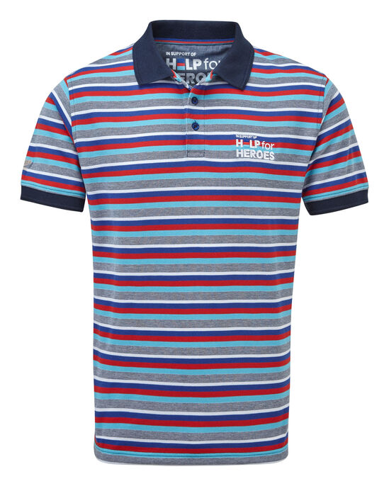 Help For Heroes Birdseye Stripe Polo Shirt