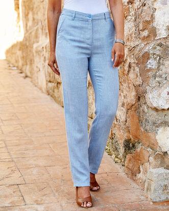 Linen-blend Pants