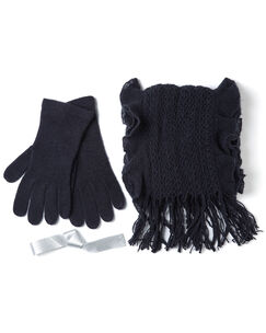 Ruffle Scarf and Glove Set