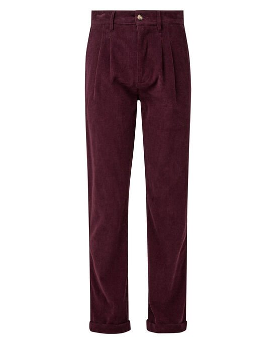 Pleat Front Cord Pants