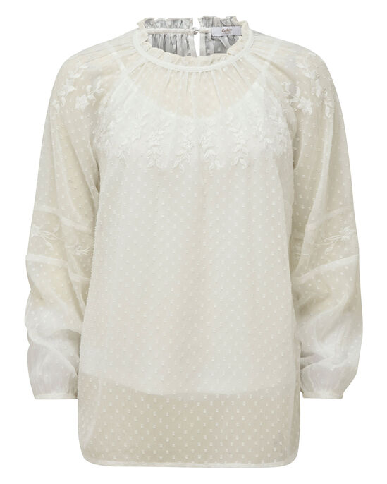 Embroidered Long Sleeve Blissful Blouse
