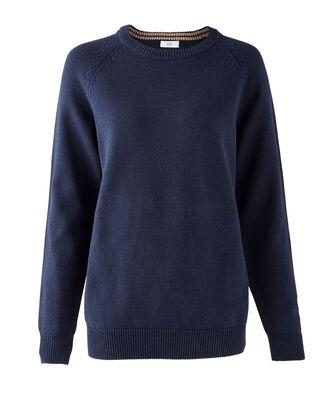 Plain Cotton Crew Neck Sweater