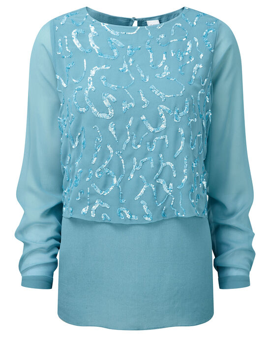 Double Layer Sequin Top