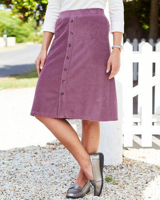 Jersey Cord Pull-on Skirt