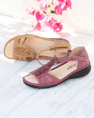 Flower T-bar Sandals