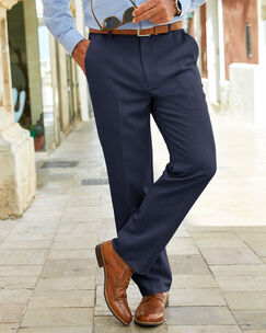 Travel Flat Front Chino Pants
