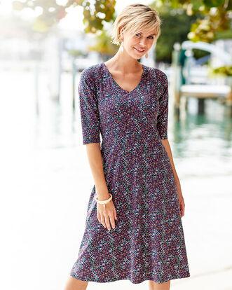 Tummy Control Floral Midi Dress