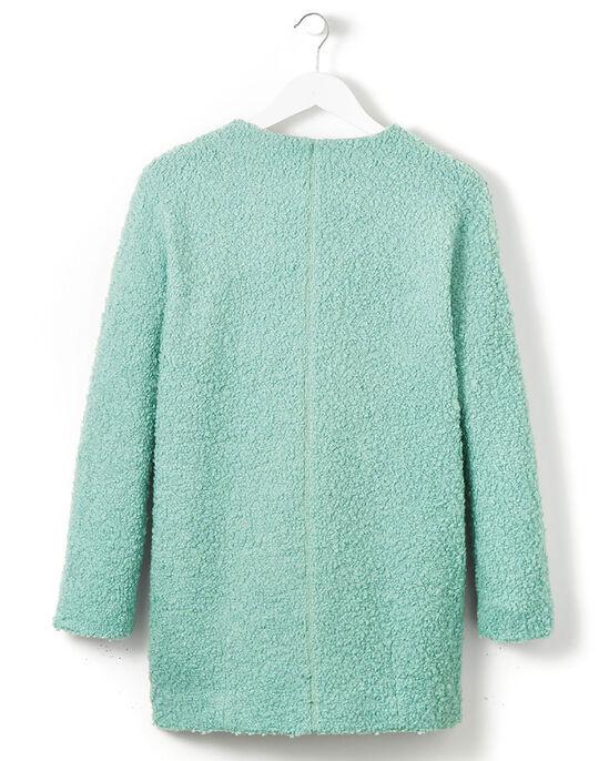 Wool Blend Boucle Coat