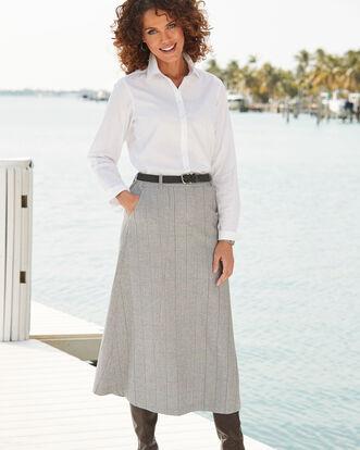 Grey Side Elastic Waist Skirt