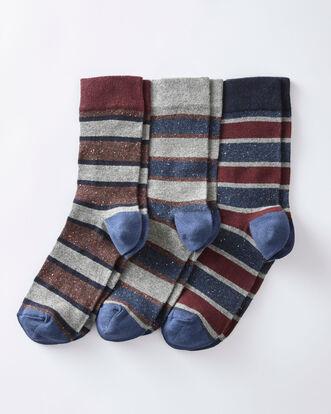 3Pk Comfort Top Stripe Socks