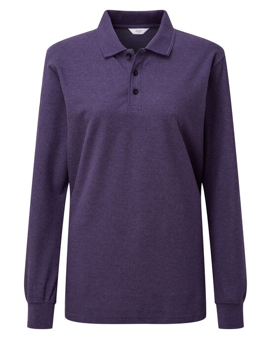 Long Sleeve Organic Polo Shirt