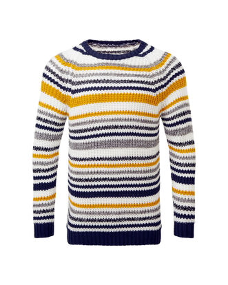 Stripe Supersoft Crew Neck Sweater