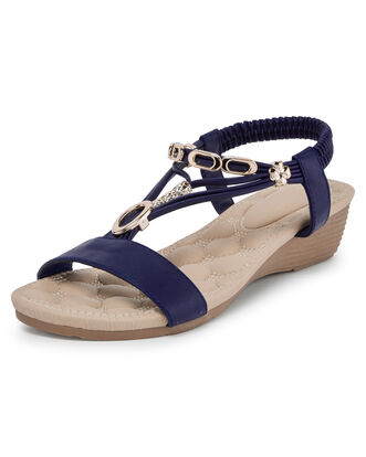 Cushioned Bead Detail Sandals