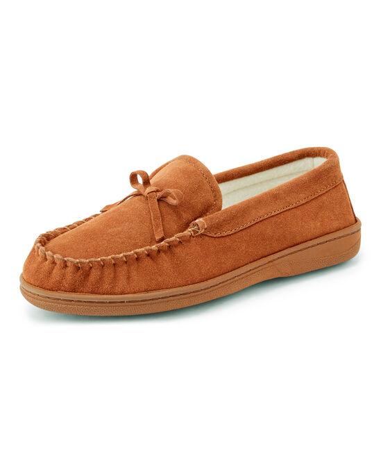 Suede Memory Foam Moccasin Slippers