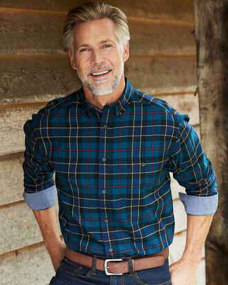 Navy Flannel Check Shirt
