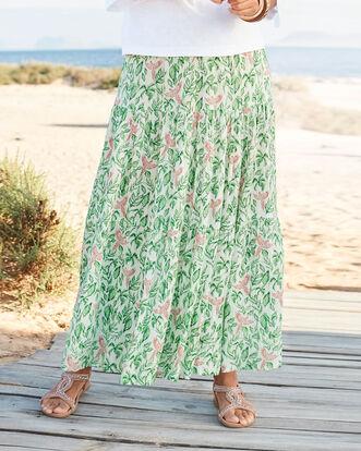 Print Print Tiered Maxi Skirt