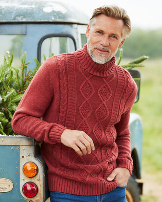 Roll Neck Cable Sweater