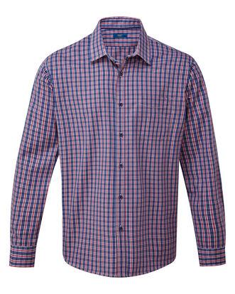 Navy Long Sleeve Wrinkle Free Shirt