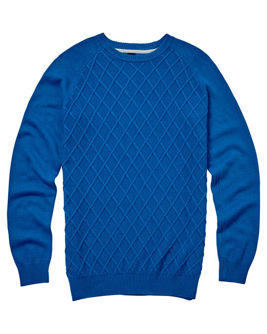 Diamond Knit Crew Neck Sweater