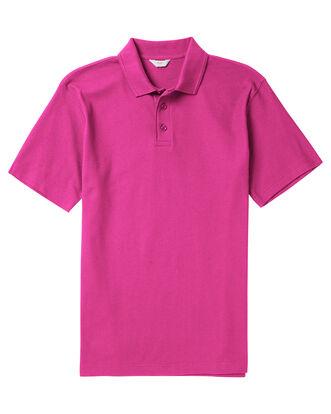 Bright Pink Organic Cotton Polo Shirt