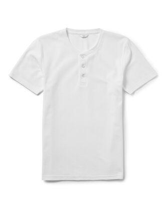 White Short Sleeve Grandad Organic T-shirt