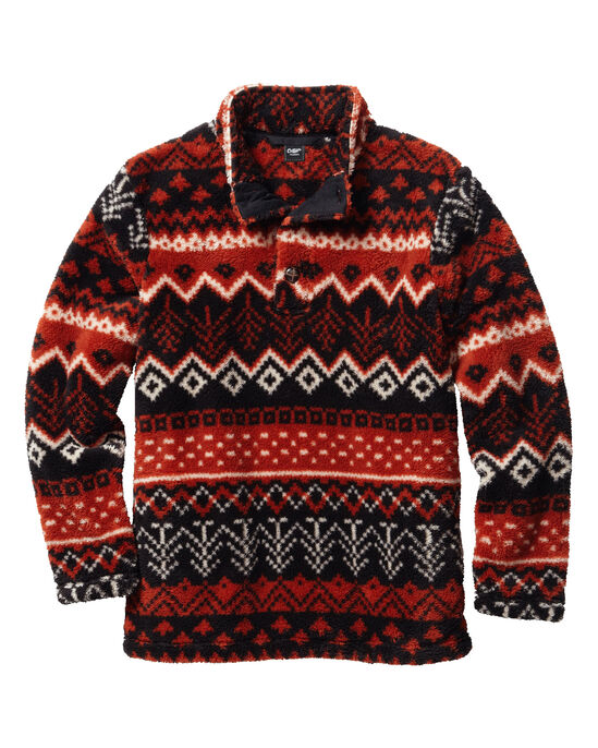 Soft Fleece Button Top