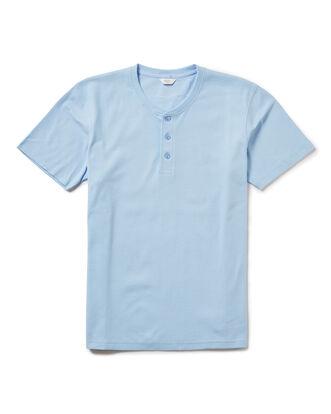 Soft Blue Short Sleeve Grandad Organic T-shirt