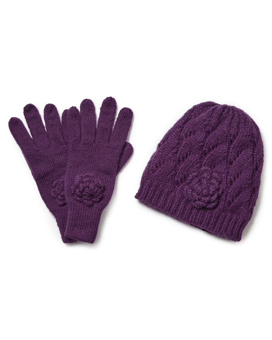 Fleece Lined Hat and Glove Set