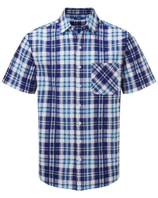 Short Sleeve Seersucker Shirt
