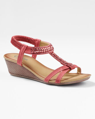Jewel 2 Strap Wedge Sandals
