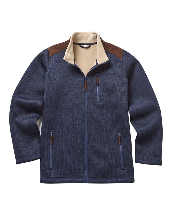 Herringbone Bonded Fleece Jacket