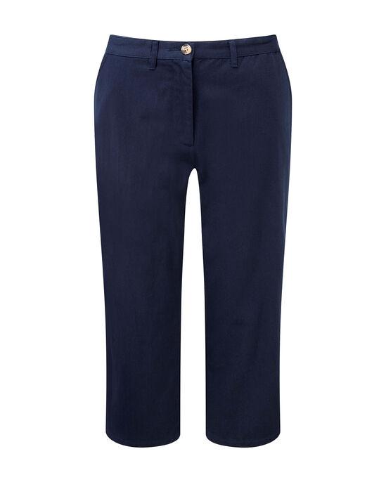 Wrinkle Free Adjustable Waist Crop Pants