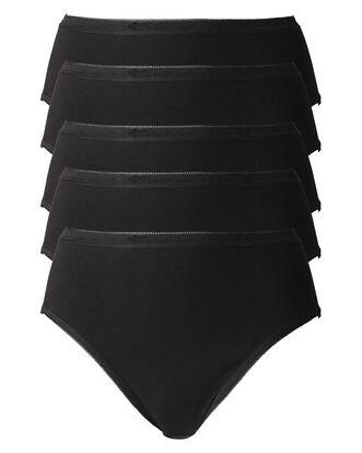 Black Pack 5 High Leg Briefs