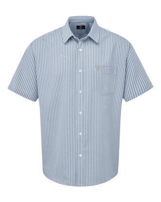 Guinness Short Sleeve Gingham Soft Touch Shirt