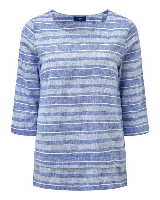 Linen Blend Stripe Top