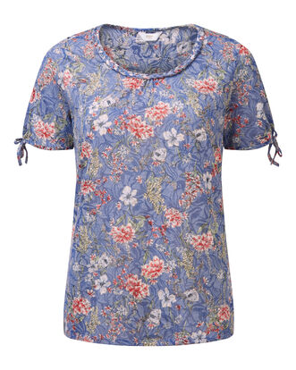 Floral Burn Out Top