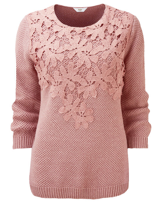 Lace Front Sweater