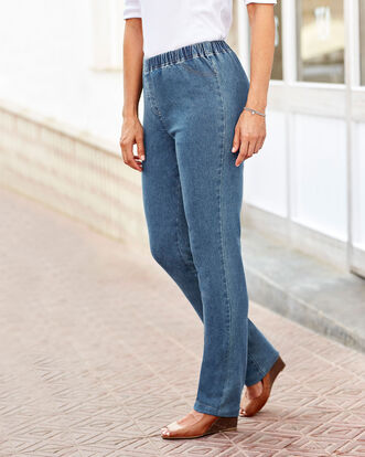 Pull-on Stretch Straight Leg Pants