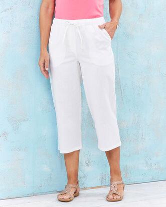 Linen-blend Crop Pants