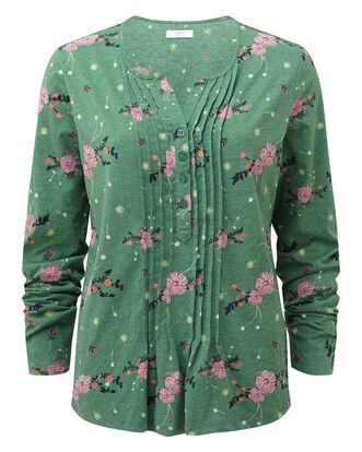 Floral Print Jersey Blouse