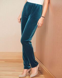 Velour Tapered Pants