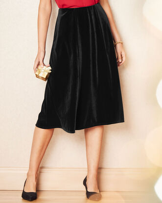Velour Midi Skirt