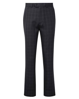 Flat Front Check Comfort Pants