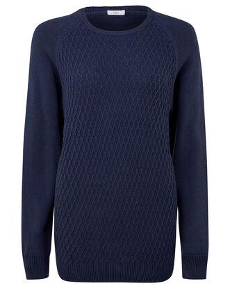 Cotton Diamond Crew Neck Sweater