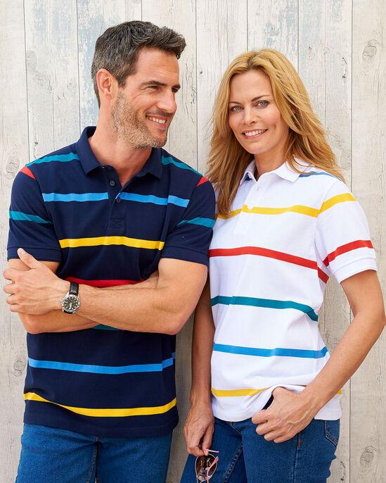 Short Sleeve Stripe Signature Polo Shirt