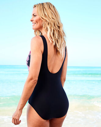 Placement Print Tummy Control Swimsuit