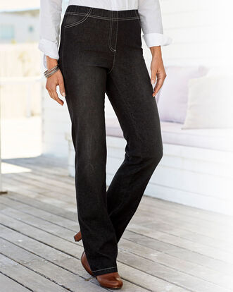 Pull-on Stretch Slim Bootcut Pants