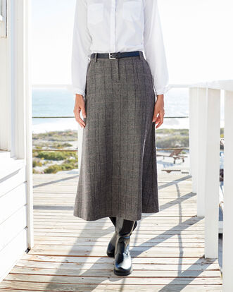 Side Elastic Waist Skirt