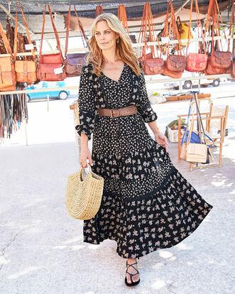 Floral Folk Maxi Dress